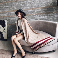 Scarf Luxury Brand Winter Poncho Pashmina Scarf Women Imitation Cashmere Warm Shawl Blanket Scarf Winter Scarves