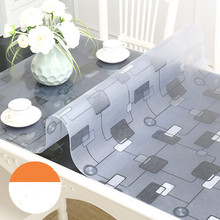 1.5mm thick pvc table cloth tablecloth soft glass crystal board PVC Tablemat Waterproof Oilproof Kitchen Dining Place Mat Pad