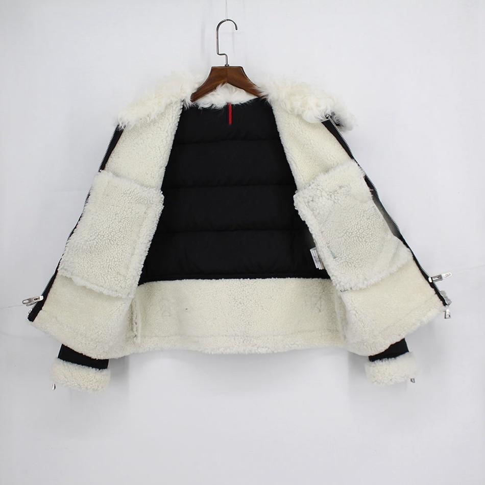 genuine leather down jackets winter women (4)