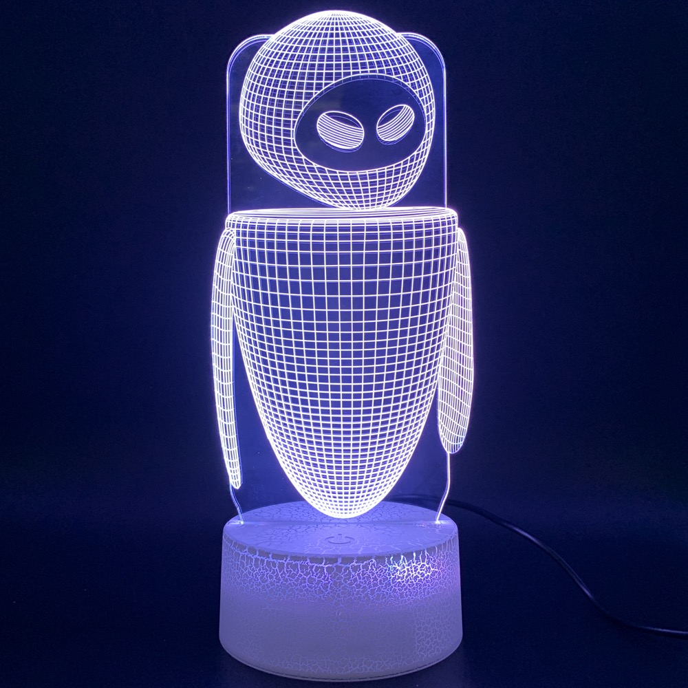 Led Night Light Movie WALL E 2 Robot Eva Figure 3d Lamp Lampara Home Decoration Birthday Gift For Kids Baby Novelty Lights