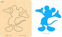 New Mouse Wooden die Scrapbooking D-244 Cutting Dies