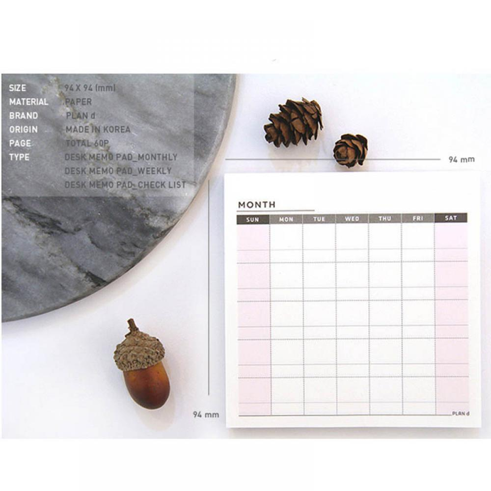 1PCS/60Pages Schedule Organizer Check List Sticky Note Memo Pad Week Planner Sticker Student Child Kids Stationery