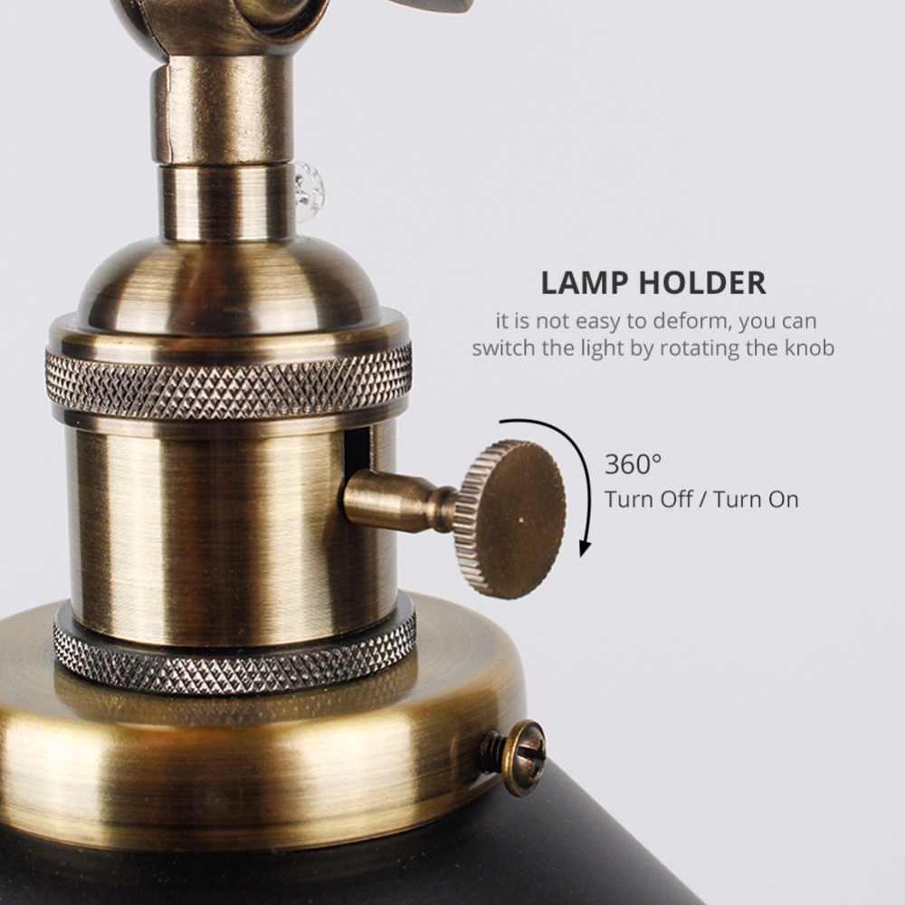 Винтажный настенный светильник, внутреннее освещение, настенный светильник с переключателем, ретро бра, черно-белая крышка, прикроватные лампы, E27, для дома и магазина