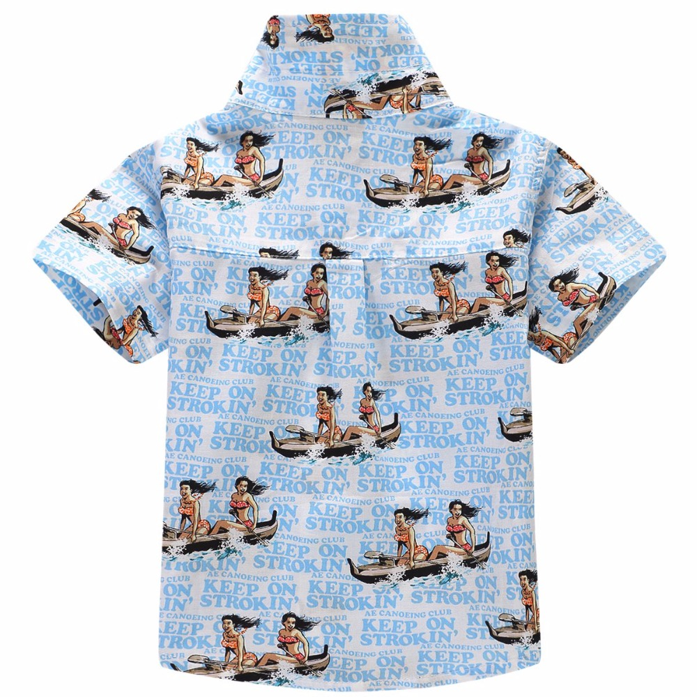 Algodão 100% camisa floral camisa havaiana aloha shirt para o menino T1701 54a188904cb5c