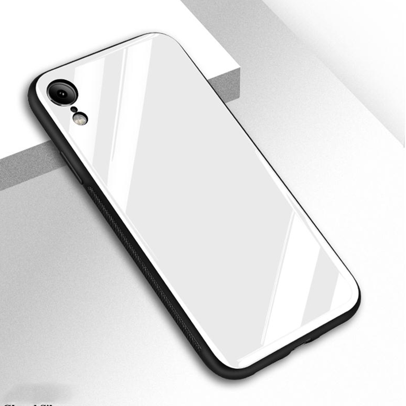 Suntaiho Phone Case For iPhone 7 6 6s 8 X Plus 5 5s SE XR XS Max Tempered Glass Back + TPU edge Case Back Cover for iphone 8plus