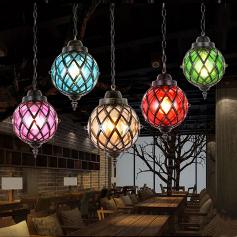 glass ball pendant light magic  Stair Bar Droplight Global Pendant Lamps Kitchen Hanging Light Fixture Luminaira restaurant abtoys набор посуды для кухни в корзине цвет желтый