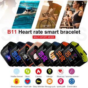 Image 5 - 2019 B11 pulsera inteligente 9,9mm cuerpo Fitness reloj impermeable monitoreo Frecuencia Cardíaca sueño reloj inteligente para Android e IOS8.0