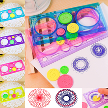 Painting Multi-function Interesting Puzzle Spirograph Children Drawing Plastic Ruler Can Improve Start Work Ability YJS Dropship недорого