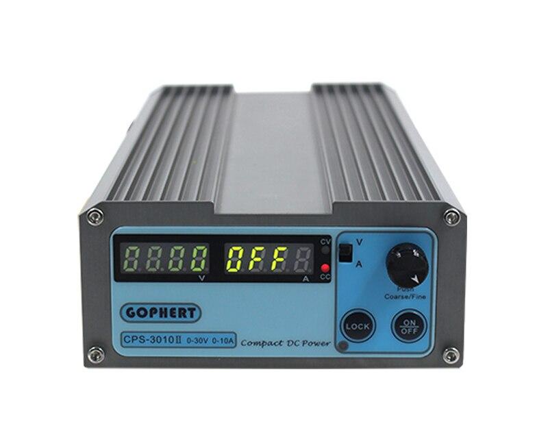 CPS-3010II 30V 10A précision numérique réglable DC alimentation commutable 110 V/220 V avec OVP/OCP/OTP DC puissance 0,01a 0.1V