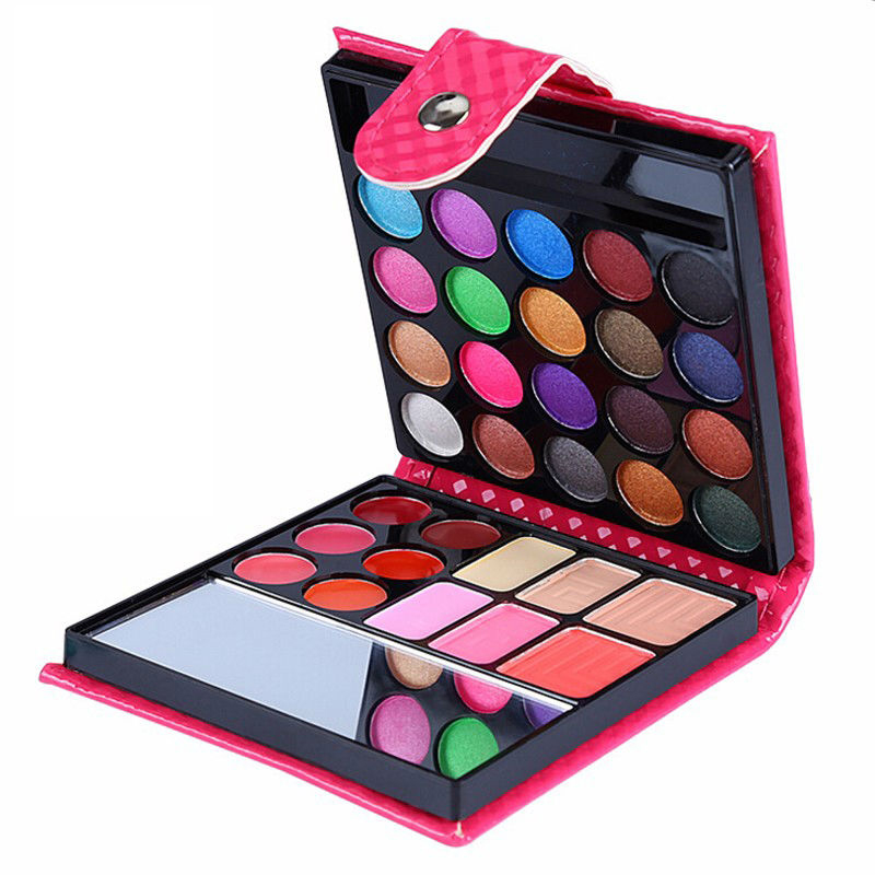 Portable Make Up Set Eye shadow Blush Lip Gloss Powder Brush Cosmetic Makeup Set Maquillaje Brand Eyeshadow Lipstick Glitter