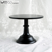 SWEETGO 10/12 inch black cake stand quality metal wedding cake tools display table decorator home decoration bakeware dinnerware