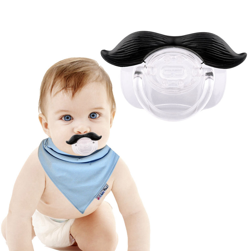 Pacifier 5 Pcs Metal Wooden Baby Pacifier Clip Round Cute Mustache Mixed Pattern Pacifier Clip For Newborn 4.4cm X 3cm Baby Gift Mother & Kids