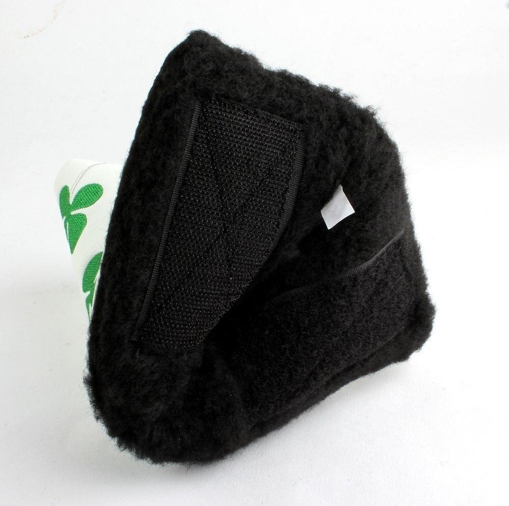 2018 Лидер продаж playeagle 1 шт. Вышитые Зеленый четыре листа клевера Гольф клюшки шлем с черно-белый цвет