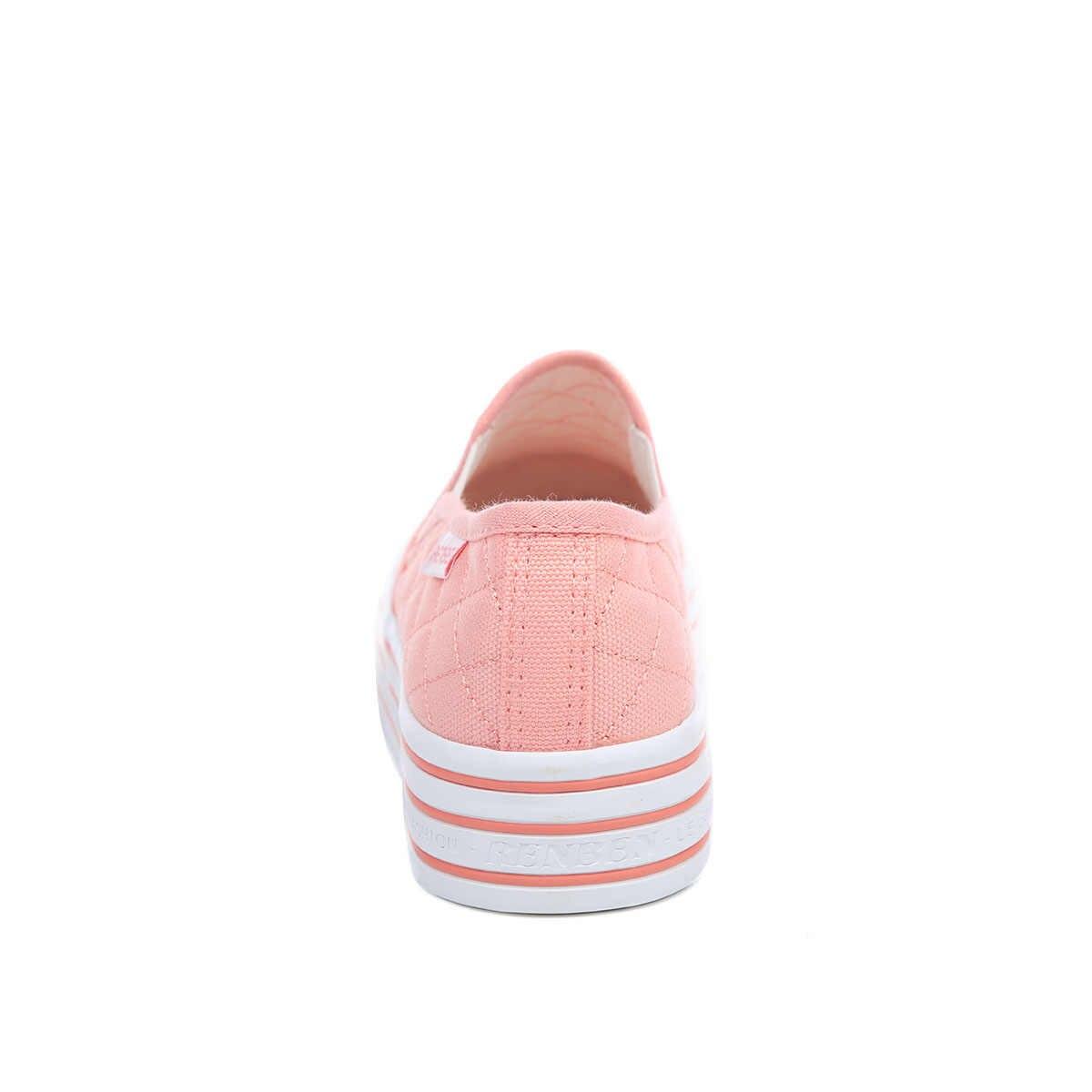 Nuove Donne Mocassini Scarpe Casual Tacchi Punta Rotonda Nero Rosa Fannullone Scarpe Autunno Donne di Conforto Scarpe