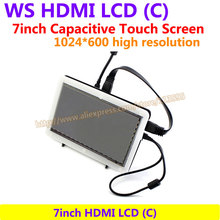 Sale 7inch HDMI LCD(C) (with bicolor case) 1024*600 Capacitive Touch Screen Drive Demo board Support Raspberry Pi B 2/3 & Banana Pi