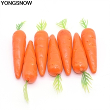 25Pcs 8cm Easter Carrot Fake Foam Fruit and Vegetables Carrot Model Berries Flower Artificial Carrot Birthday Easter Party Decor