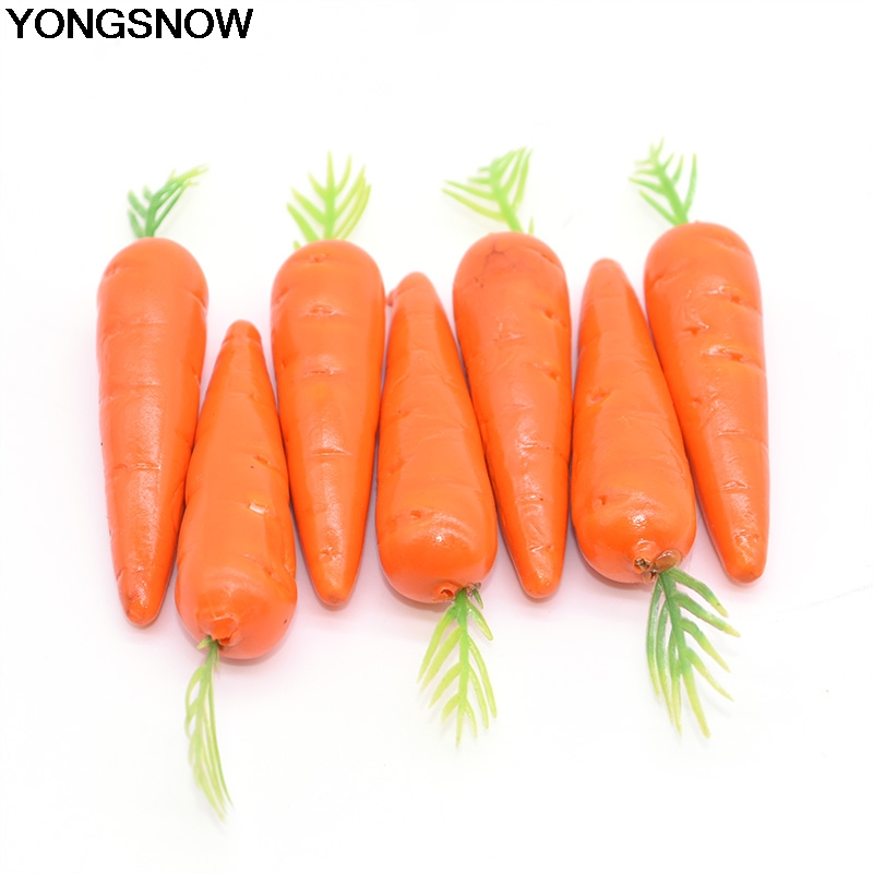 YONGSNOW 25Pcs 8-9cm Fake Foam Plastic Fruit And Vegetables Model Berries Flowers Artificial Carrot Wedding Birthday Party Decor