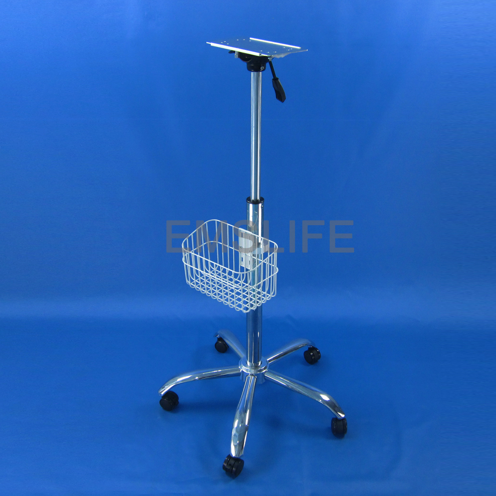 medical trolley rolling monitor stand