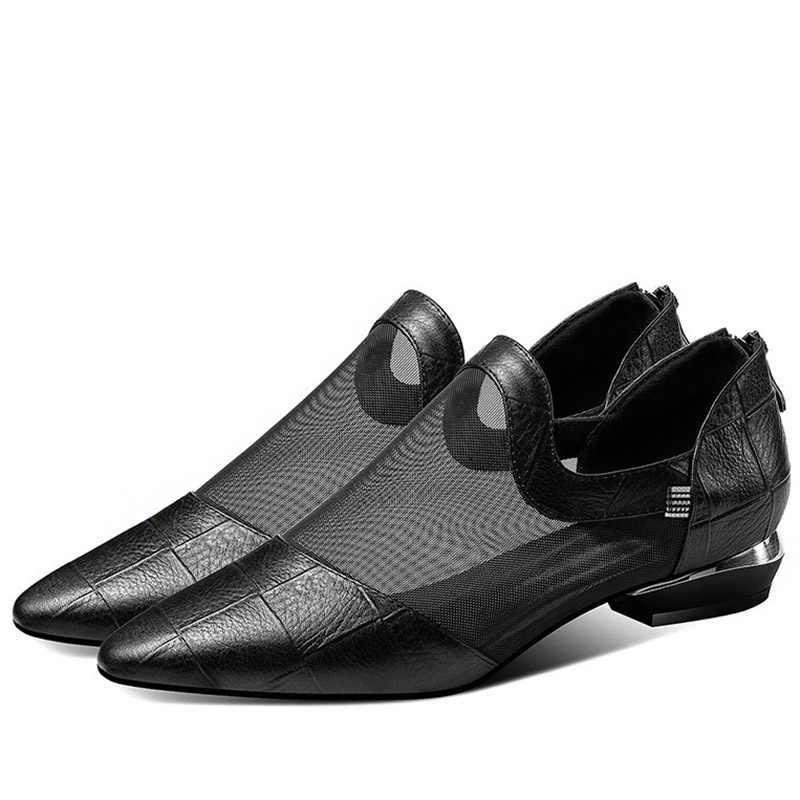 Artı Boyutu 41 Gladyatör Sandalet Örgü Sandal Kadın Ayakkabı Düşük Topuklu Yüksek Üst Sandalias Mujer Kadın Elbise Ayakkabı zapatos mujer 7509
