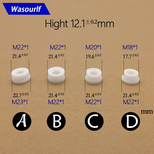 WASOURLF outer adapter M23 M22 male thread transfer M20 M18 male ...