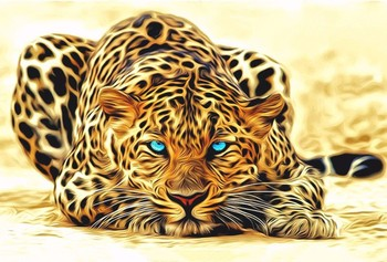 Hand Painted Animal Canvas Wall Painting Leopard Oil Painting for Home Decoration Art New Year Gifts No Framed High Quality