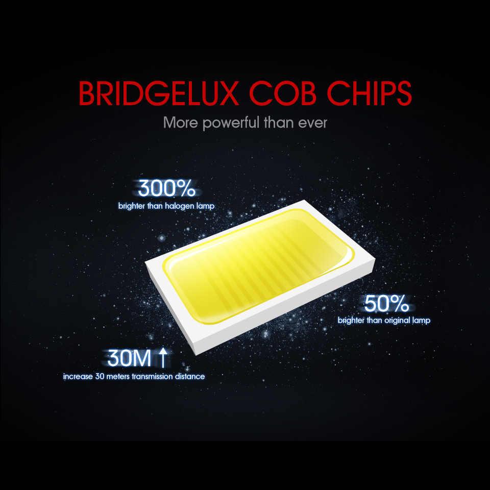 Auxmart 70W 7000LM H4 H7 H11 H1 Car LED Fog Light Bulbs COB Chips 9005 9006 H3 Auto LED Headlight Bulbs 6500K 4300K 12V 24V Red