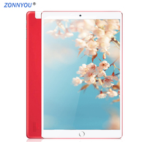 PC Tablet 10.1 inch Android 8.0 3G Phone Call Dual SIM Card Octa Core 4GB/32GB Wi Fi Bluetooth GPS Tablets PCCover 10.9 Tablet