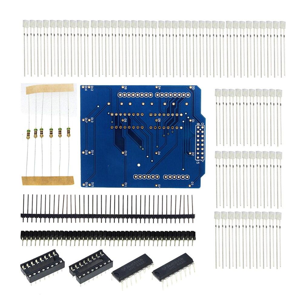 Işıklar ve Aydınlatma'ten LED Modülleri'de 4X4X4 mavi LED ışık Küp Takımı 4*4*4 3D LED DIY Kiti Elektronik Paketi okul eğitim laboratuvarı