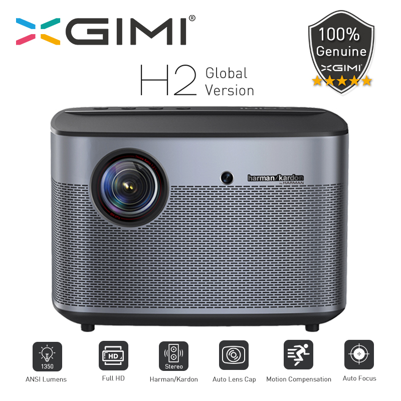 XGIMI H2 Projecteur Global Version 1080 pixels Full HD 1350 Ansi Lumens 4K Vidéo projecteur 3D Support Home cinéma