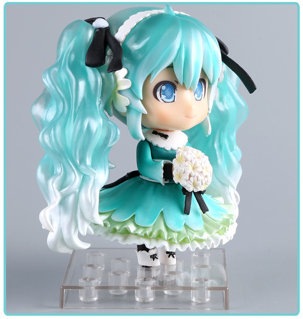 Anime Hatsune Miku Action Figure Snow Miku #047 Nendoroid Cute Ver. Toy 10cm                                                     1