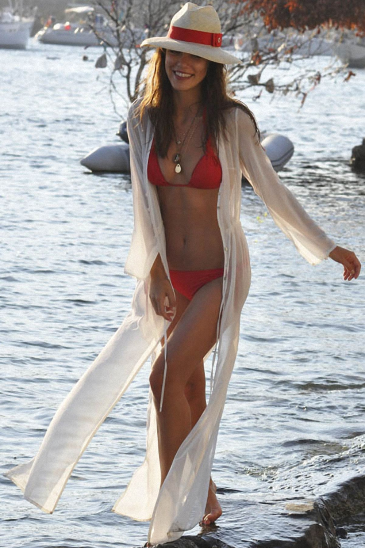 Stylish White Chiffon Beach Sundress Women Long Lacing Beach Dress BathingSuit Skirted Wear Summer