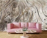 Custom Vintage Wood Texture 3d Vinyl Wallpaper Papel De Parede Restaurant Livng Room Tv Sofa Wall