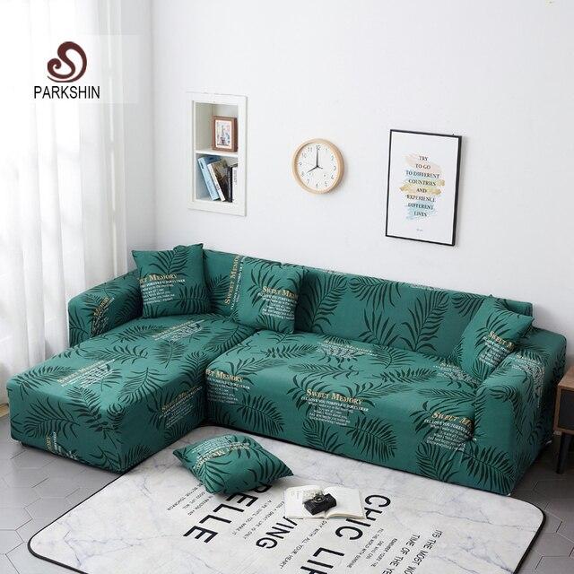 Parkshin Fashion Leaf Slipcover rozciągliwy pokrowiec na sofę pokrowiec na meble poliester Loveseat narzuta na sofę Sofa ręcznik 1/2/3/4 seater
