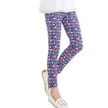 Newest Baby Kids Girls Leggings Pants Flower Floral Printed Elastic Long Trousers 2-14Y j2