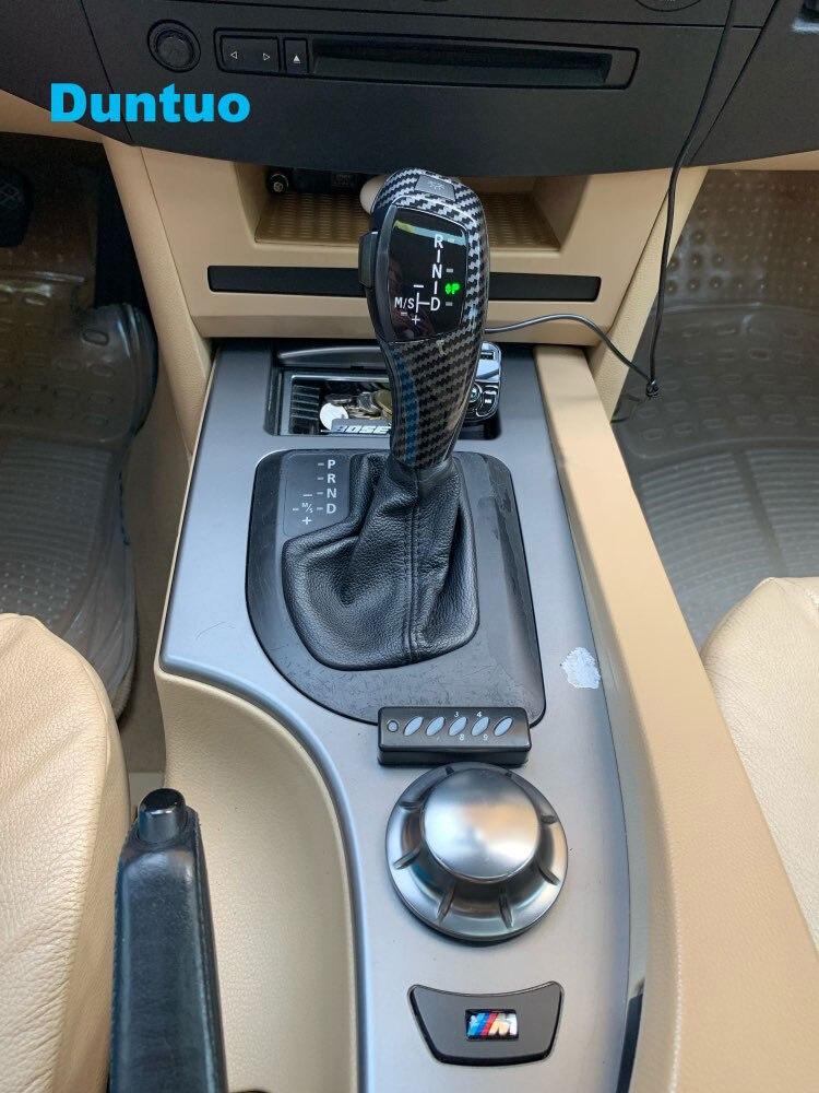 Chrome Black Acouto Automatic LED Gear Shift Knob Manual Shifter Knob for BMW E46 E60 E61 E63 E64