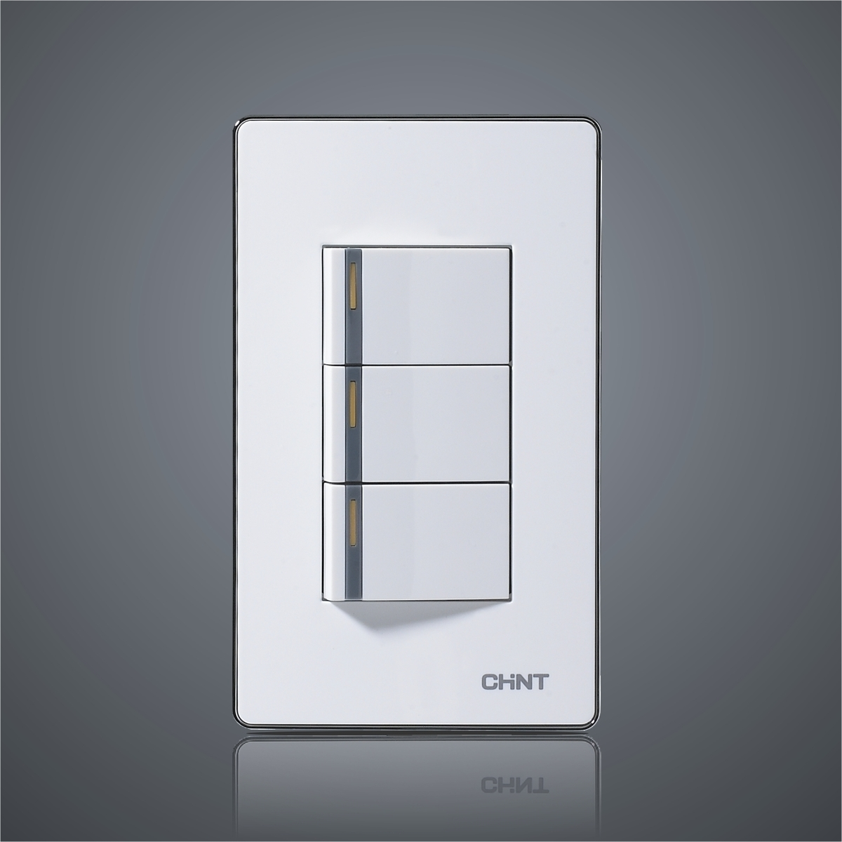 CHINT Push Button Light Switch 120 Type NEW9 E012A Three Gang Two ...