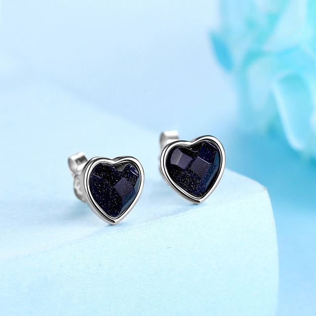 925 Sterling Silver Agate Stud Earrings For Women Jewelry Square Round Heart Retro Fine Jewery Unisex Accessories Brincos Men -in Earrings from Jewelry & Accessories on Aliexpress.com | Alibaba Group