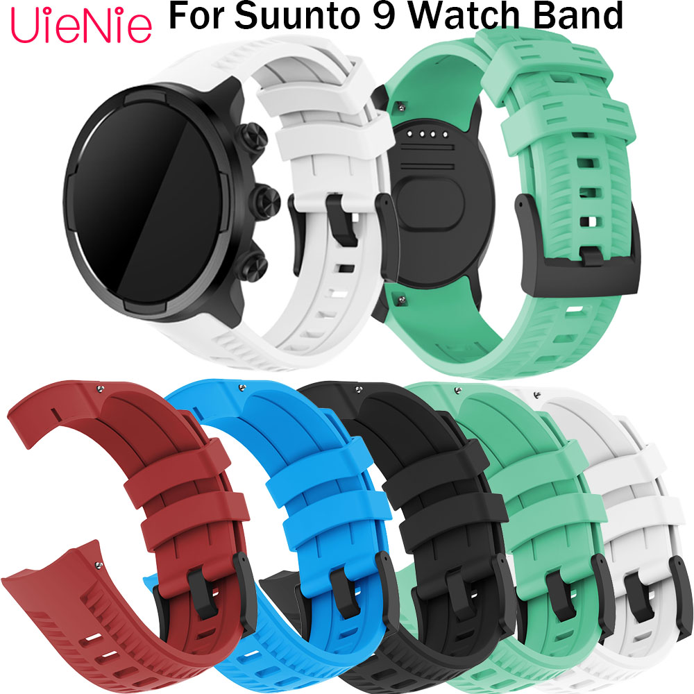 For SUUNTO 9 Frontier/classic Silicone Sport Wristband Replacement Strap For SUUNTO 9 Smart Watch Bracelet Wrist Accessories