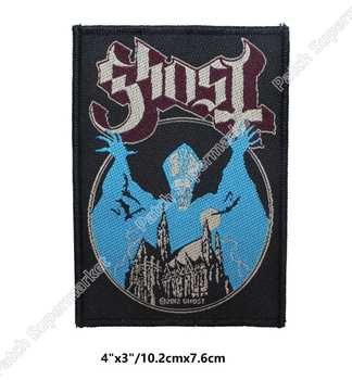 Ghost BC Opus Eponymous Patches Album Art Heavy Metal Music Woven Sew On Applique Swedish Doom metal Hard rock Psychedelic rock