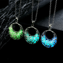 GENBOLI Novelty Fashion European American Style Hollow Out Necklace Creative Fluorescent Party Necklace Jewelry Drop Shipping