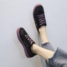 a933ecc35b Sapatas de lona femininos 2018 versão Coreana do novo sapatos estudantis  estilo Harajuku ulzzang bordo sapatos maré.