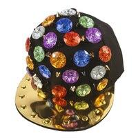 2017 Fashion Cool Kids Baseball Caps Street Dance Punk Rivet Hip Hop Cap Snapback Hats Men