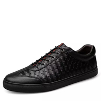Brand Men Causal Shoes Handmade Genuine Leather Top Quality Lace Up Black Leisure Male Flats Spring