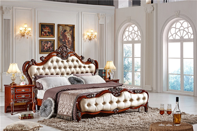 Fashion Bedroom Set / Italian Bedroom Furniture Set / Classic Wood Furniture  Designs
