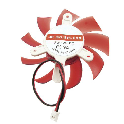 YOC Hot Computer Red Plastic VGA Video Card DC 12V Brushless Cooling Fan medium computer cpu plastic cooling fan leaves card blower heat sink