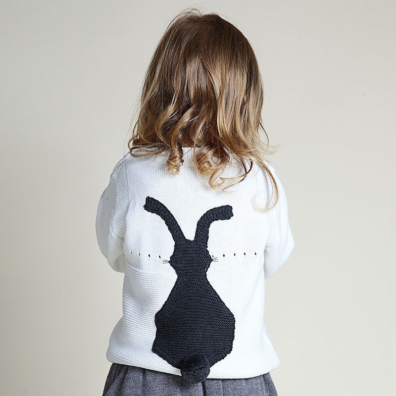 Super Cute Rabbit Baby Boysgirls Knitted Sweaters 100 Cotton