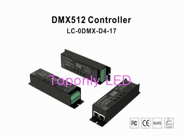 2017 contrôleur de protocole DMX512 (1990) de haute qualité DC12-24v décodeur dmx avec écran OLED 35 modèles et fonction de gradation de 256 degrés