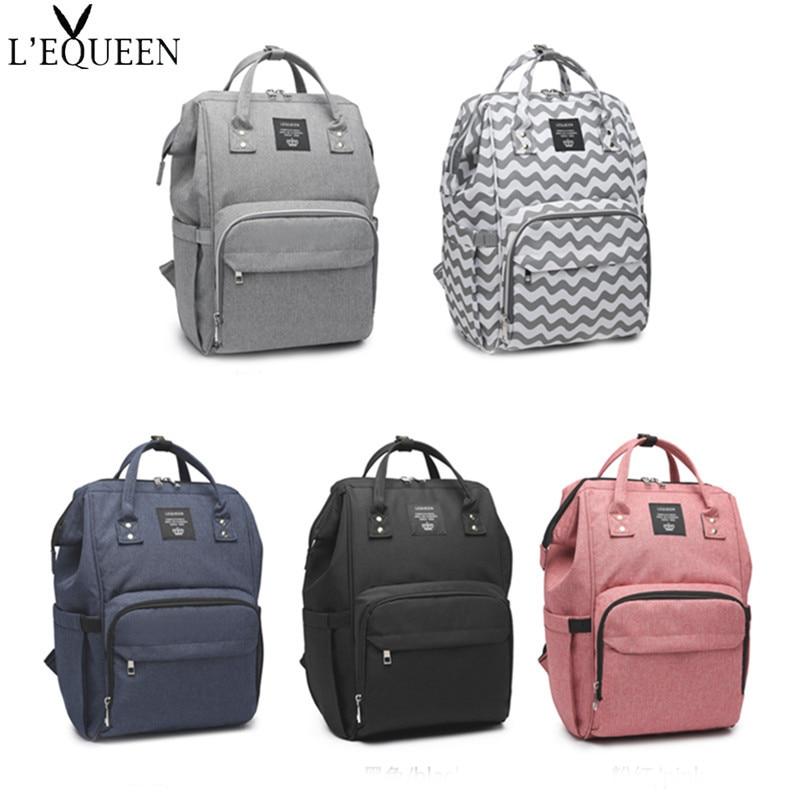 LEQUEEN-sac à couches multi-fonction décontracté | Sac à couches grande capacité pour maman bébé, sac à couches soins imperméable d'affaires 44cm