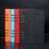 New Business Spiral Notebook 4 Color A5 PU Leather Cover Planner Organizer Notepad Gift Stationery School