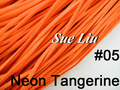 10pcs 3mmx1.5mm Neon Tangerine Flat Faux Suede Velvet Leather Cord -1M/pcs NCS27-05
